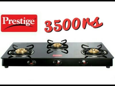Prestige GTM03L  3Burner Glass Gas stove Review price 3899rs