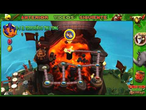 Wii l Guía l Donkey Kong Country Returns l # 41 l ¡ Mundo 8 : 8 - 7 y 8 - J !