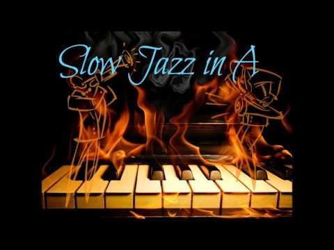 Slow Jazz Guitar Backing Track in A
