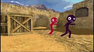 Flash-Animation - Counter-Strike 1.6 - ƒ de_dust2 (Zombie Server) - 480p