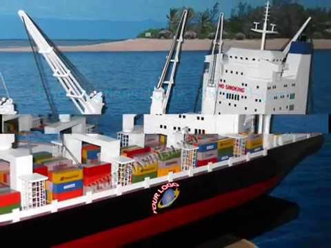 GENERAL CONTAINER SHIP WITH CRANES - GIA NHIEN VIETNAM BOAT BUILDER