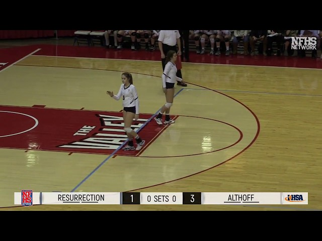 2017 IHSA GIrls Volleyball Class 3A Champ Game: Belleville (Althoff) vs Chi. (Resurrection)