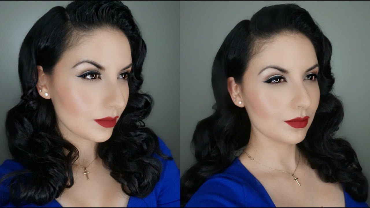 Classic Pin-Up Makeup and Hair Tutorial | Cómo hacer un Maquillaje ...