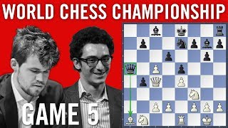 World Chess Championship 2018 Game 5: Magnus Carlsen vs Fabiano Caruana