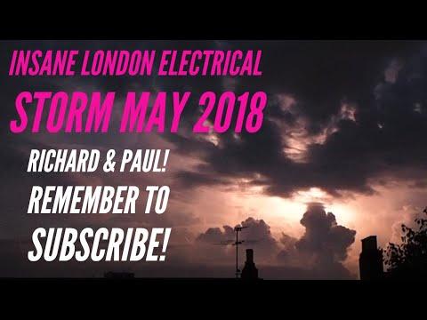Lightning Thunder Storm, London, UK - 26/05/2018