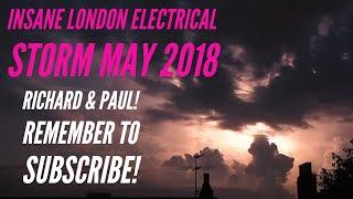 Lightning Thunder Storm London UK - 26052018