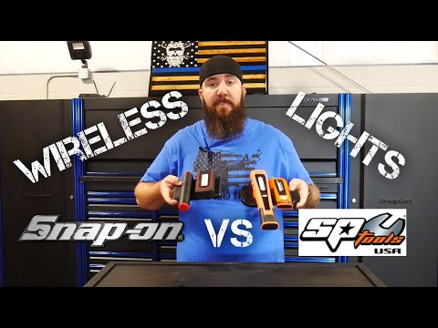 WIRELESS CHARGING SHOP LIGHTS - SNAPON VS SP TOOLS USA