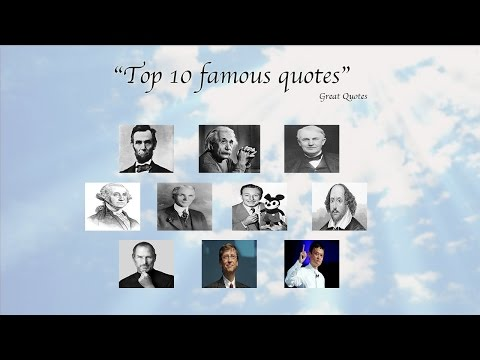 Inspirational quotes – Best famous quotes of great people
