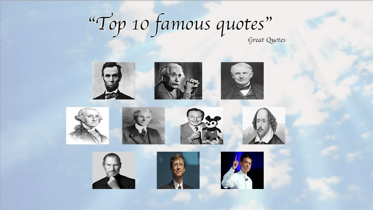Inspirational quotes best famous quotes of great people youtube
