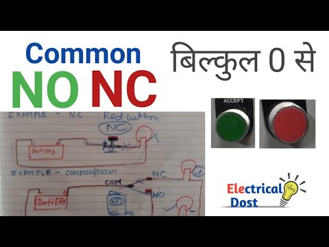 no nc kya hai | no nc wiring diagram | no nc switch | no nc contact | no nc  push button|