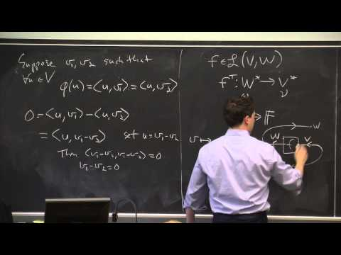 Linear Functionals And Adjoints Part 1: Riesz Representation, Adjoint