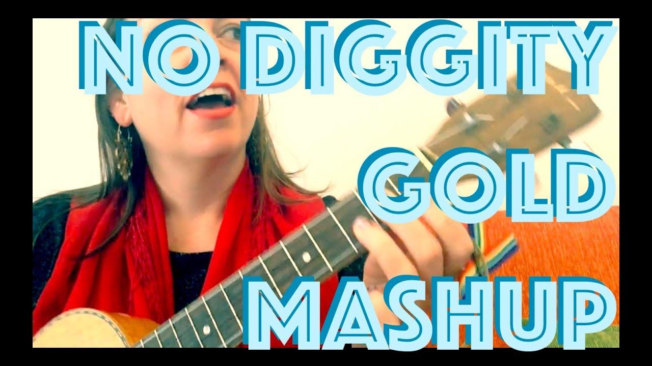 NO DIGGITY / GOLD  MASHUP Ukulele Lesson Chet Faker / Blackstreet How to  Play Chords Strum Tutorial