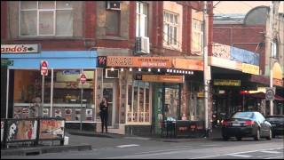 Scenes from multicultural Collingwood Melbourne Australia in High Definition