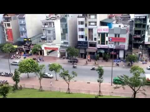 Downtown Hanoi street scenes.