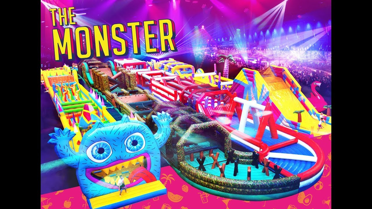 THE MONSTER | UK | The Craziest Bouncy Castle in the World!