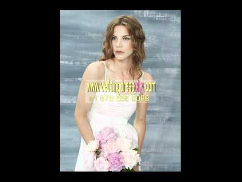 simple short beach wedding dresses with tiny straps 3-71 - YouTube