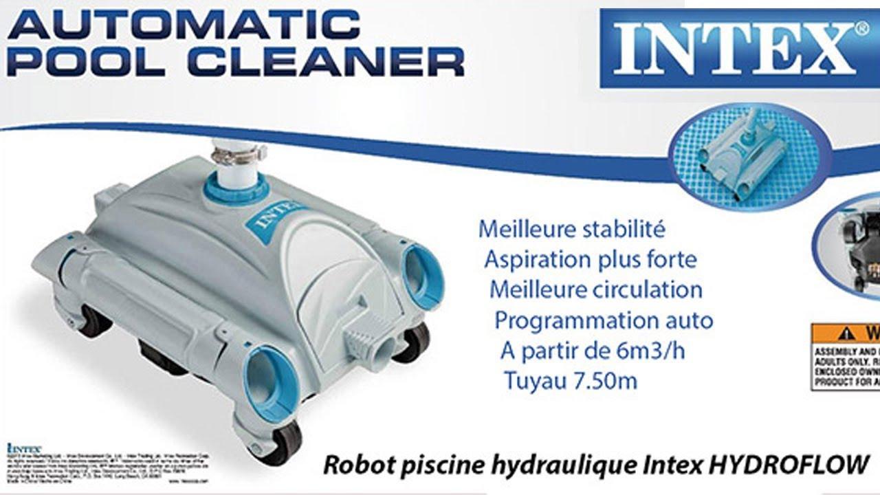 Robot piscine hydraulique intex hydroflow aspiration - Filtration piscine hors sol intex ...