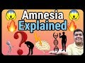 Amnesia explained   How it is caused?