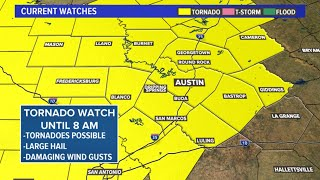 LIVE: Tracking severe storms, Tornado Watch until 8 a.m.