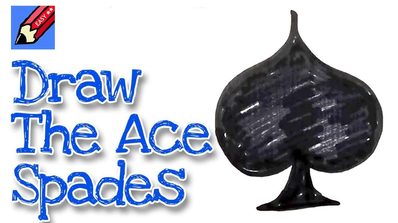 How to draw the ace of spades real easy for kids and beginners youtube