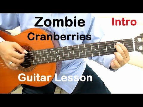 Cranberries Zombie Guitar Tutorial (Intro) - Guitar Lessons for Beginners