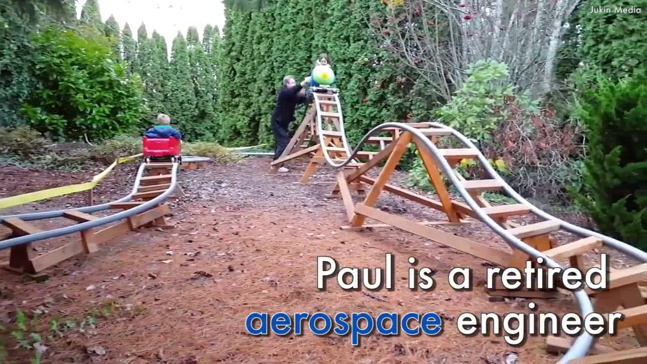 this grandpa built rollercoasters in his garden for his