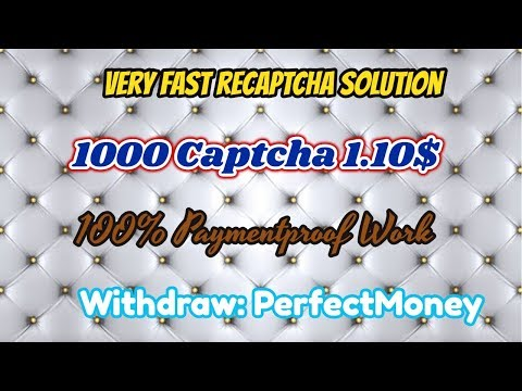 Very Fast Easy way Recaptcha Solution|| 1000 Captcha 1.10$ payment|| Recaptcha Work only