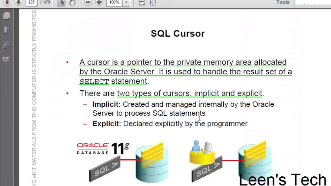 Beginner to Expert PL/SQL 11g Tutorial in Bangla: Fundamentals L#4 P#3 |  Introducing SQL cursors