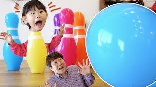 아빠랑 거대 볼링 대결 장난감 놀이 LimeTube toy review