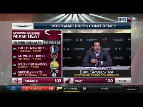 Erik Spoelstra -- Miami Heat vs. Houston Rockets postgame 1/17/17