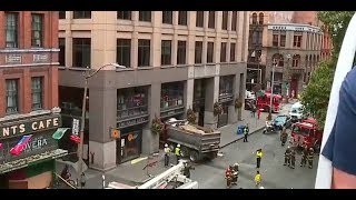 DUMP TRUCK INTO RESTAURANT: Reports say three injured in Seattle