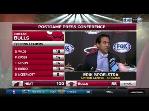Erik Spoelstra -- Miami Heat at Chicago Bulls 01/27/2017