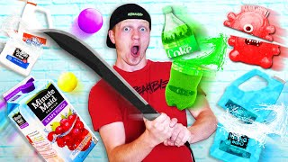 REAL LIFE FRUIT NINJA WITH SATISFYING THINGS!
