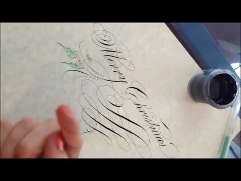 Pointed Pen Calligraphy Christmas Greeting A Bit Of I