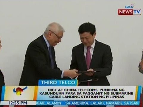 DICT at China Telecoms, pumirma ng kasunduan para sa paggamit ng submarine cable landing station
