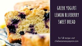 Healthier Greek Yogurt Lemon Blueberry Bread