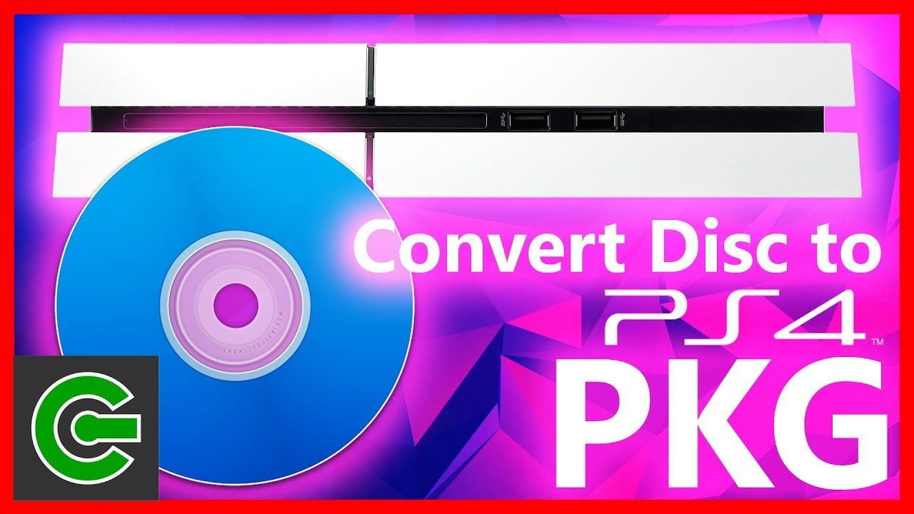How to convert PS4 game disc to PKG format