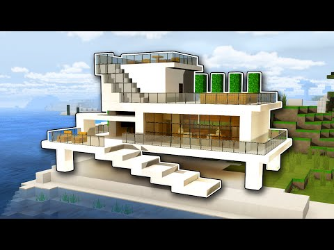 ⛏️ Minecraft: How To Build A Modern Beach House Tutorial