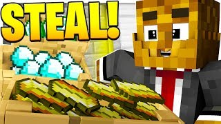 *BRAND NEW* MINECRAFT MODDED BANK HEIST - ROBBING THE ADMIN'S BANK OF ALL MINECOINS