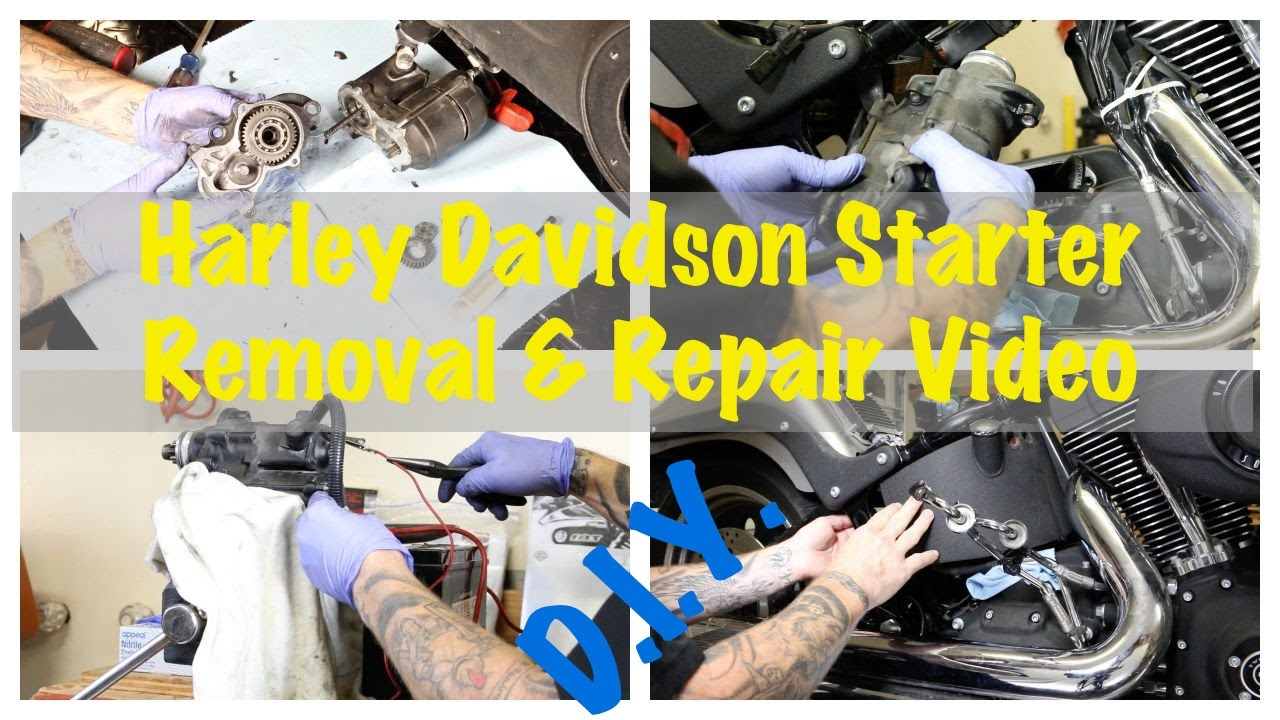 Harley Davidson Starter Replacement Install Clutch Fix 1981 Wiring Diagram Complete Guide Instructions Youtube