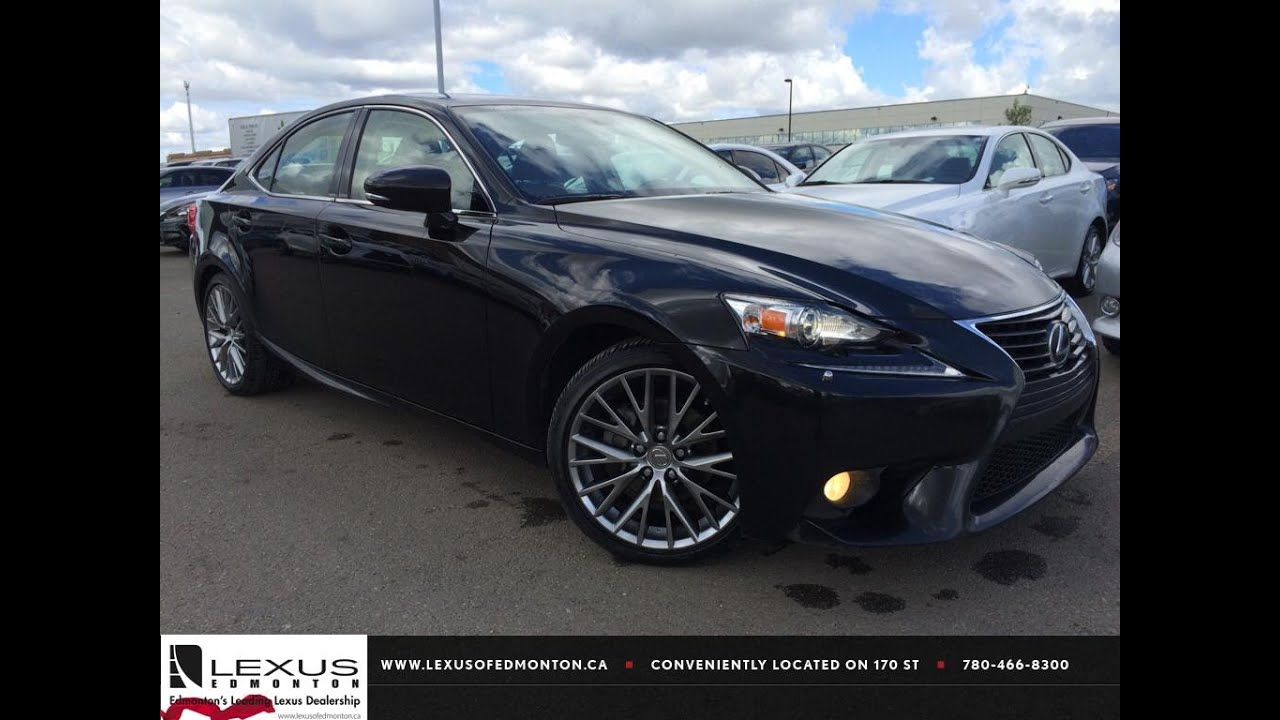 Certified Pre Owned Lexus >> Lexus Certified Pre Owned Black 2014 Lexus IS 250 Sport Auto AWD Premium Package Review Olds ...