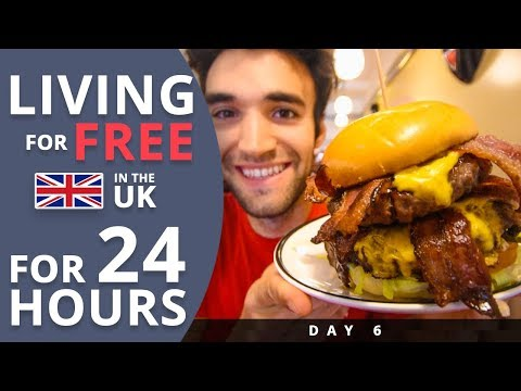 LIVING for FREE for 24 HOURS in THE UK! (Day #6)