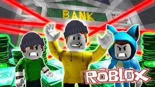 THE BEST BANK LADRONES!! ROB THE BANK OBBY IN ROBLOX 💙💚💛 DRINK MILO VITA AND ADRI 😍 AMIWITOS