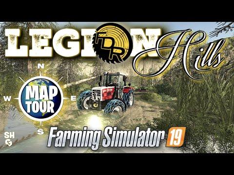 Farming Simulator 2019 | New Logging Map: Legion Hills By FDR Logging