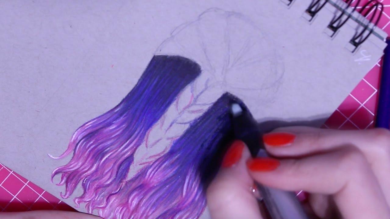 Tutorial Na Vlasy Vlnite Ombre Vlasy Jak Nakreslit Youtube