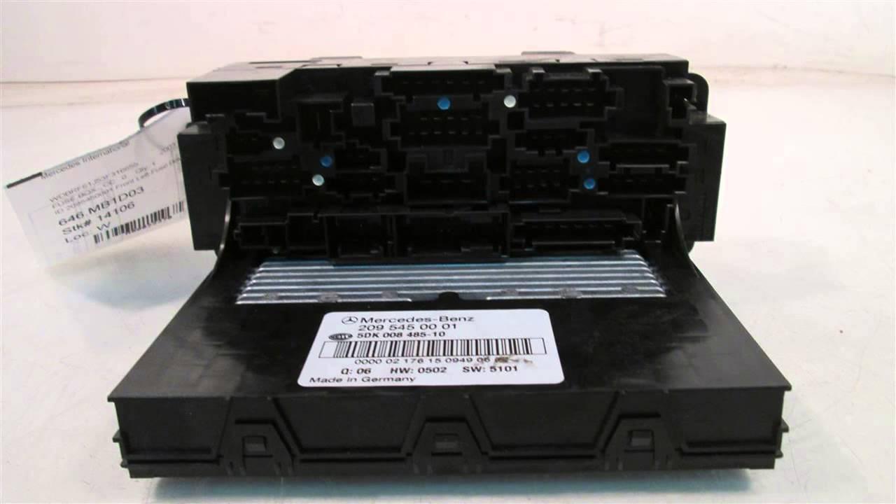 hight resolution of 2003 mercedes c240 id 2095450001 front left fuse box mbiparts com 2003 mercedes benz 4matic