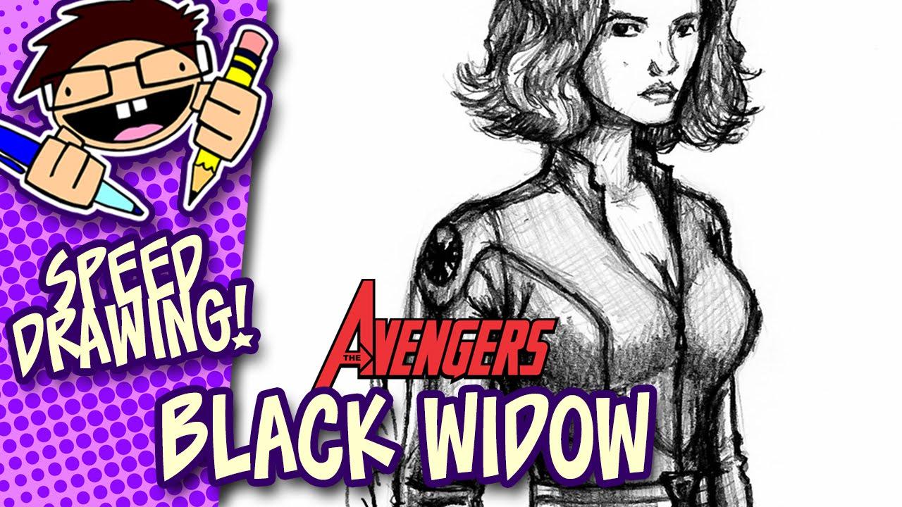 Speed Drawing Black Widow Avengers
