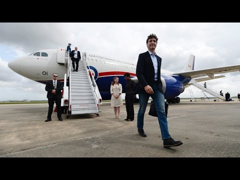 Justin Trudeau arrives in Houston for energy conference