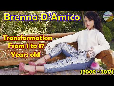 Brenna D'Amico transformation from 1 to 17 years old