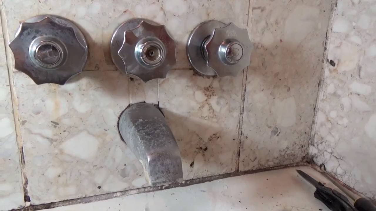 How to fix a leaking shower faucet - YouTube